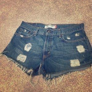 Levi's Cut Off Jean Shorts